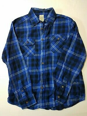 Boys Faded Glory Zip Top Blue Camo Green Flannel Shirt Jacket Pull Over  NEW