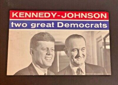 Official 1960 Kennedy Johnson DEMOCRATS CARE Campaign Handbill 1490
