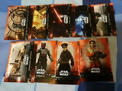 TOPPS STAR WARS THE RISE OF SKYWALKER x 9 DIFFERENT RED PARALLEL CARDS