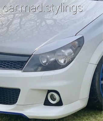 Vauxhall Astra H White Plastic Eyebrows/Eyelids/Kit/Light/Eye Brows SRI/VXR/MK5