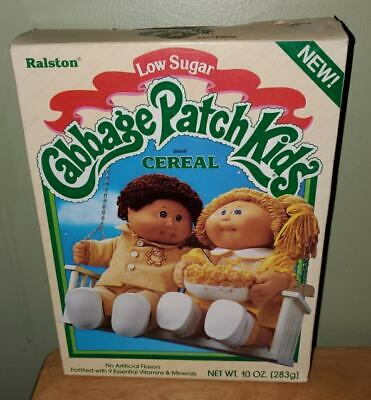 Very Rare Cabbage Patch Kids Empty Cereal Box RALSTON 1985 Good Condition