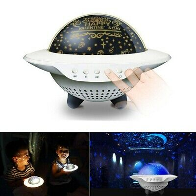 LED Night Star UFOProjector Light Lamp Music Rotating Starry Baby Room Kids Gift