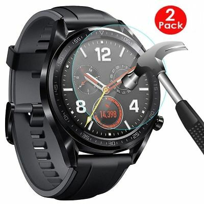(2 PACK) For Huawei Watch GT 2 46 MM Glass Screen Protector Shield Protection