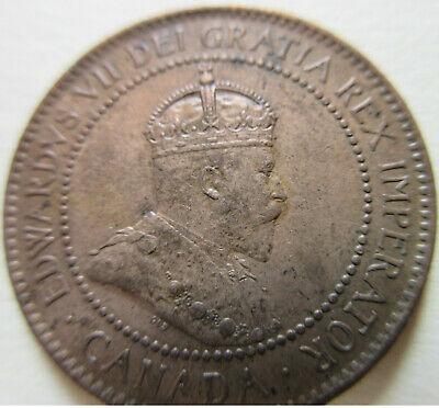 1902 Canada Large Cent Coin. AU++/UNC RED NICE GRADE (C441)
