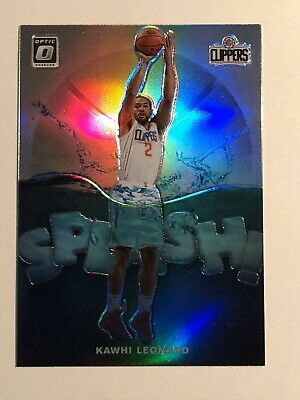 2019-20 Panini Optic KAWHI LEONARD Splash Silver Holo Prizm!