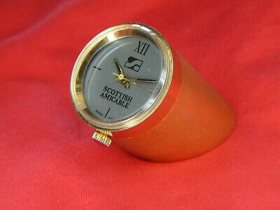 Swiss Tube Desk Watch Advertising Scottish Amicable. c1960.