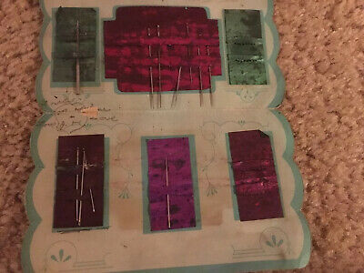 """/""""Made in Occupied Japan/"""" Vintage complete 1945-1952 Sewing Circle Needle Book"""