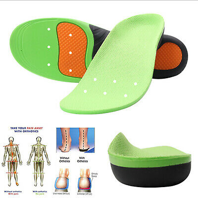 New Orthotic Flat Feet Foot High Arch Gel Heel Support Shoe Insoles Inserts Pads
