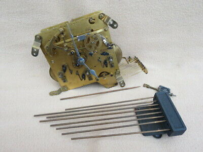 Vintage Haller Westminster Whittington Chime Clock Movement, Hands, Etc