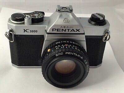 Pentax K1000 Film Camera & 50mm F2 Lens, Meter Working, New Seals