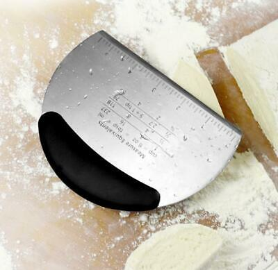 Stainless Steel Pastry Dough Cutter Scraper Scale Kitchen Bread Making Tool