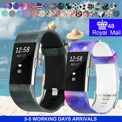For Fitbit Charge 2 2HR Watch Strap Replacement Soft Silicone Rubber Wristband