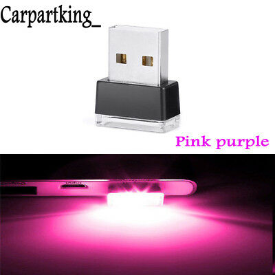 Mini Pink purple LED Light Car Interior Light Neon Atmosphere Ambient Lamp