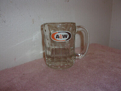"Vintage  ""A & W"" Clear Glass   Small   Root Beer Mug...#5"