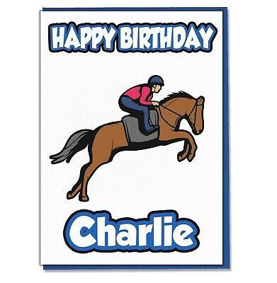 Personalised Horse Riding Birthday Card Girls Ladies Daughter Mum Wife Sister