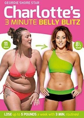, Charlotte Crosby's 3 Minute Belly Blitz [DVD] [2014], Like New, DVD