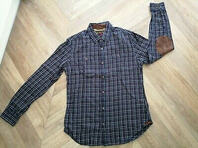Country & outdoor apparel Navy Rust & White Check Shirt  S Red Herring Great Con