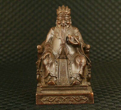 Chinese qing dynasty bronze  buddha statue collectable decoration