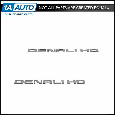OEM Emblem Nameplate 2500HD Door Mounted Pair Set for Chevy Silverado GMC Sierra