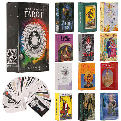 Tarot Card Oracle Cards Vintage Antique Deck Magic Future Fate Party Game Gifts