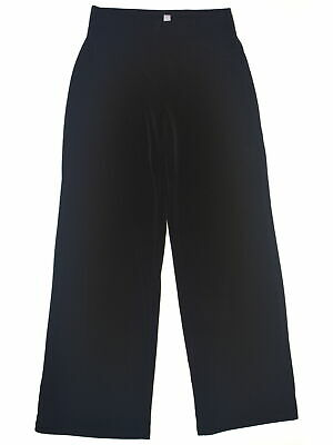 JM Collection 4929 Petites Size PP Womens NEW Black Solid Wide Leg Pants $59