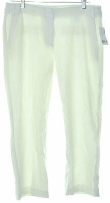 Bar III 5863 Size 12 Womens NEW Washed White Textured Culottes Pants Cropped $69