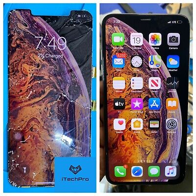 iPhone X/XS/XS Max Cracked Glass Only Screen Repair OEM/Fast Turnaround Mail in