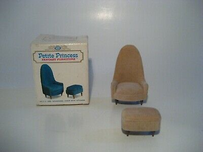 Vintage Dollhouse Furniture Ideal Petite Princess Occasional Chair Ottoman