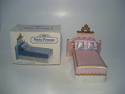 Vintage Dollhouse Furniture Ideal Petite Princess Little Princess Bed Pink Euc