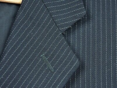 CLASSIC Armani Collezioni Navy Pinstripe Wool Suit Trim 42 R Made in ITALY