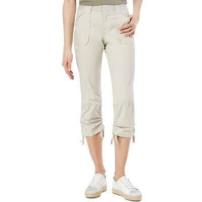 INC Womens Beige Studded Curvy Fit Casual Capri Pants Plus 18 BHFO 0023