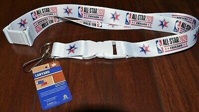 SOLD OUT 2020 Chicago NBA All-Star Game Official White Lanyard for Ticket Holder