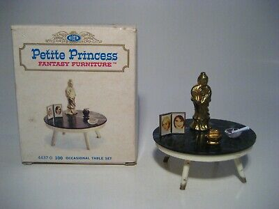 Vintage Dollhouse Furniture Ideal Petite Princess Occasional Table Set Lot Euc