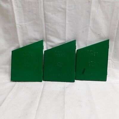 "Three Hanson 1/16"" to 1/4"" Drill Indexes"