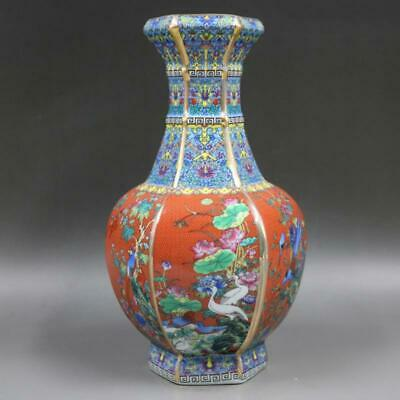 Chinese ancient antique hand make vase Porcelain Decoration s176