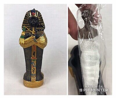 """Egyptian King Tut Sarcophagus Coffin Wrapped Mummy Figurine Magnet 6"""" Box"""