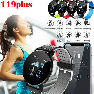 119 Plus Smart Watch Bluetooth Heart Rate Blood Pressure Monitor Fitness Tracker