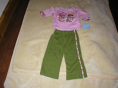 Brand New With Tags Disney Winnie Pooh Top And Trousers Set Girl Age 12 Mnths