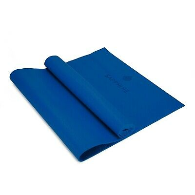 6mm Yoga Mat for Gym Exercise Pilates Gymnastic Carry Strap Non Slip - Blue