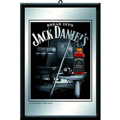 Jack Daniels Billiards Framed Mirror 20x30cm Licensed Nostalgic Art - Black No7
