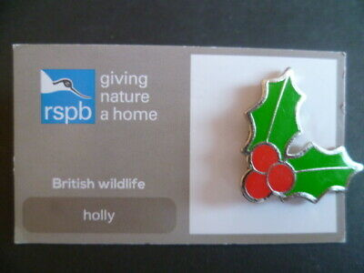 Rspb Holly Pin Badge