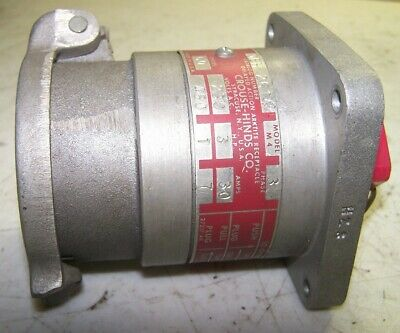 Crouse Hinds 30 Amp Delayed Action Arktite Receptacle 230/460 Vac Qeh 2614