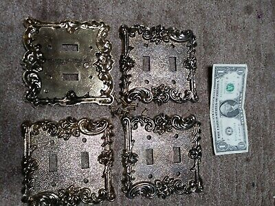 4 American Tack and Hardware company double toggle light switch covers