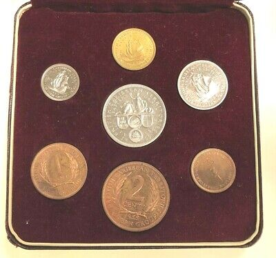 1955 BRITISH EAST CARIBBEAN TERRITORIES 7 Coin Proof Set Mintage: 2000 with Box