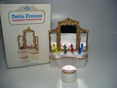 Vintage Dollhouse Furniture Ideal Petite Princess Royal Dressing Table & Chair