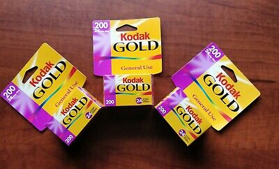 3 ROLLS! Kodak Gold 200 - Color print film 135 (35 mm) ISO 24 exposures #1870351