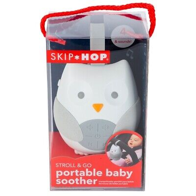 Skip Hop Stroll & Go Portable Baby Soother and Sound Machine Owl NEW in BOX