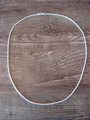 """Southwestern Jewelry Sterling Silver Rope Chain Necklace 18"""" Long x 1 MM"""