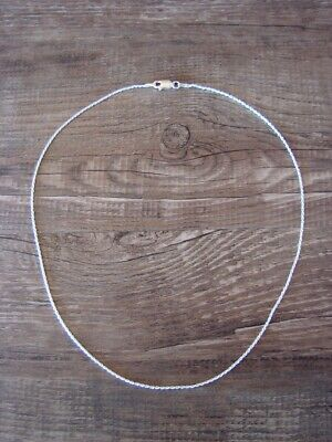 """Southwestern Jewelry Sterling Silver Rope Chain Necklace 16"""" Long x 1 MM"""