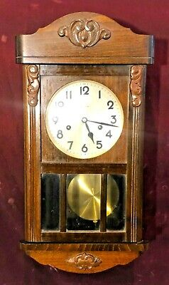 Antique German Junghans Wall Clock - 8-Day Chime & Strike - Working Great!